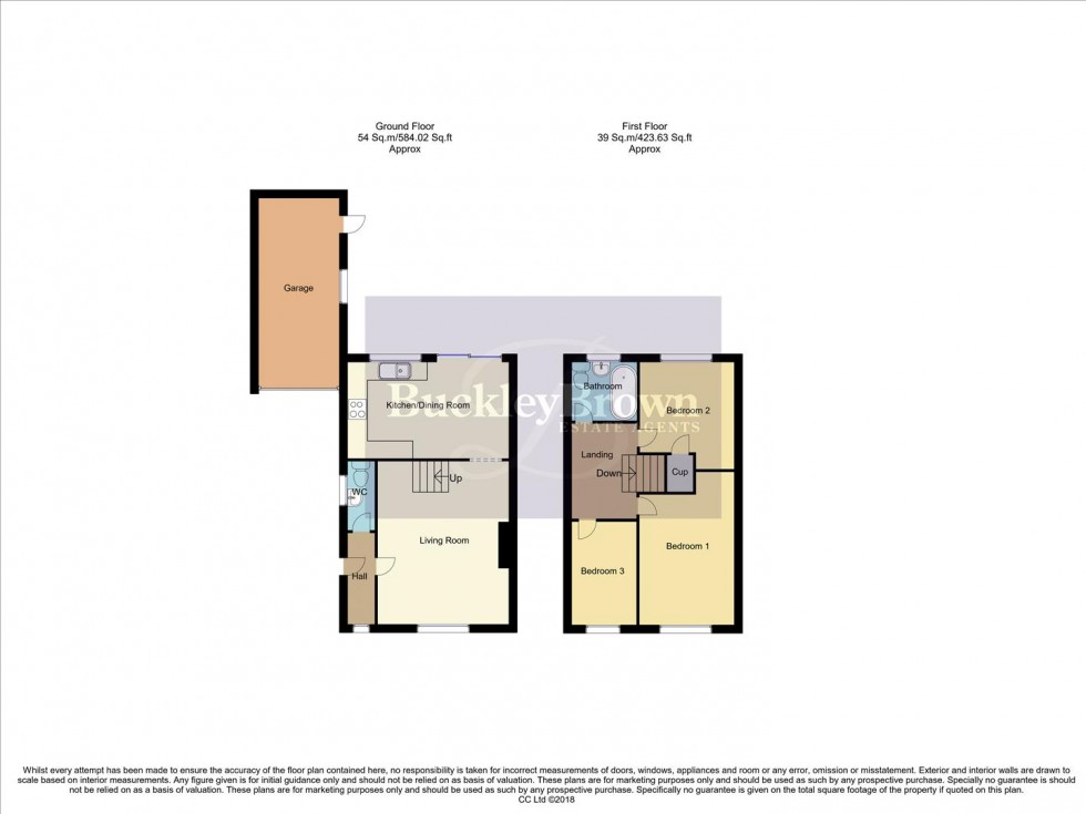 Floorplan for Baldwin Close, Forest Town, Mansfield