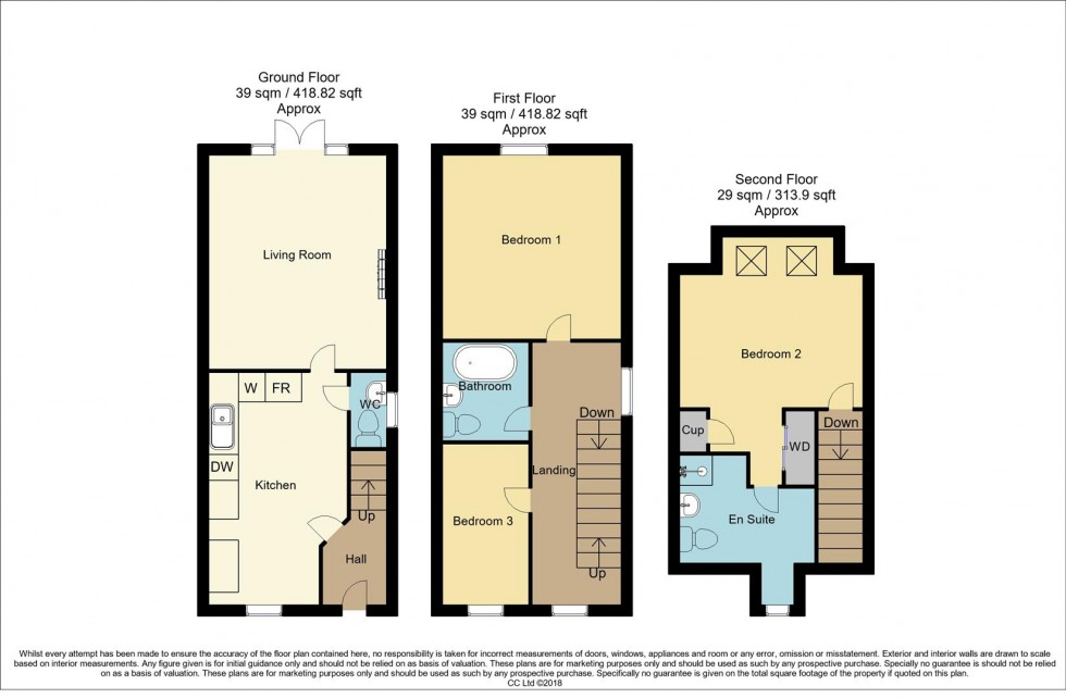 Floorplan for Betony Grove, Kirkby-In-Ashfield, Nottingham