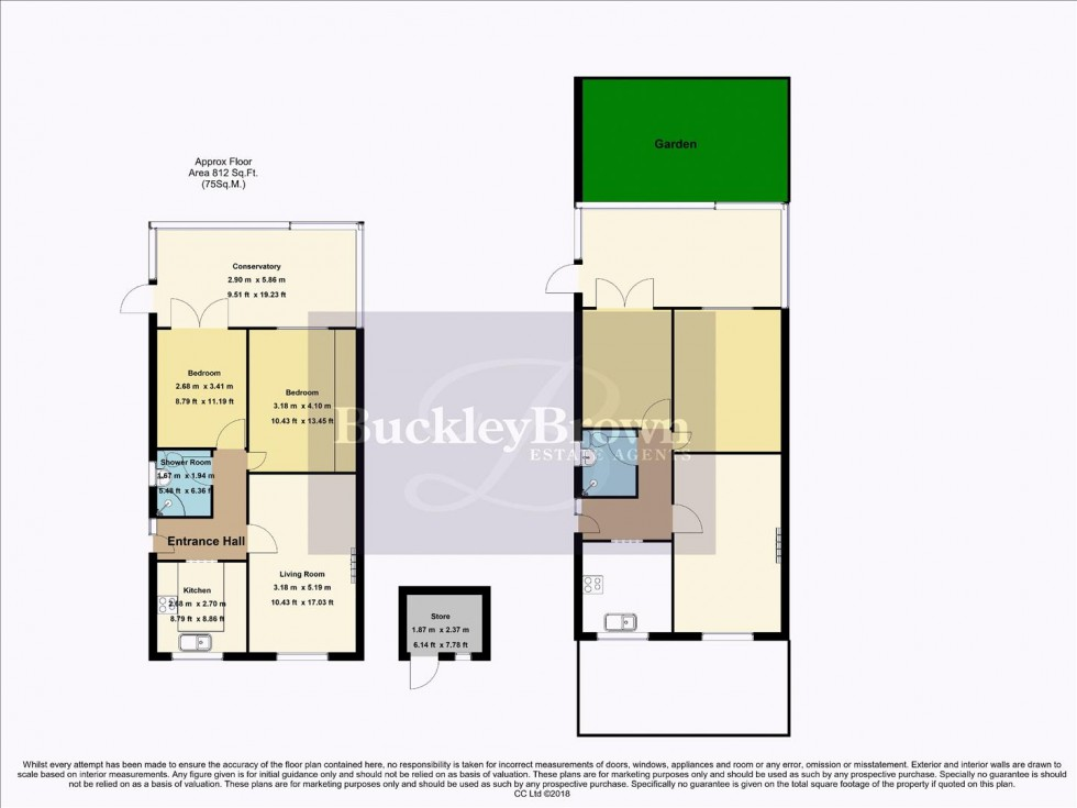 Floorplan for Walton Close, Forest Town