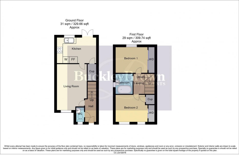 Floorplan for Chaffinch Close, Clipstone Village, Mansfield