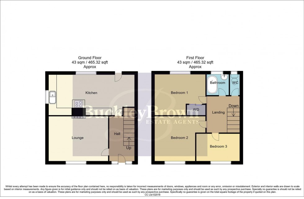 Floorplan for Hardwick Avenue, Rainworth, Mansfield