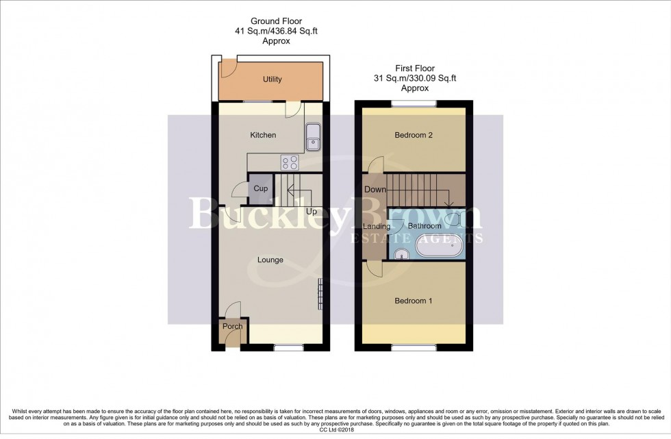 Floorplan for Rowan Close, Forest Town, Mansfield