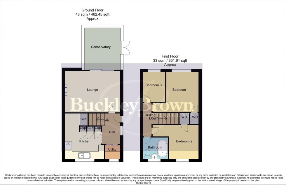 Floorplan for St. Peters Drive, Rainworth, Mansfield