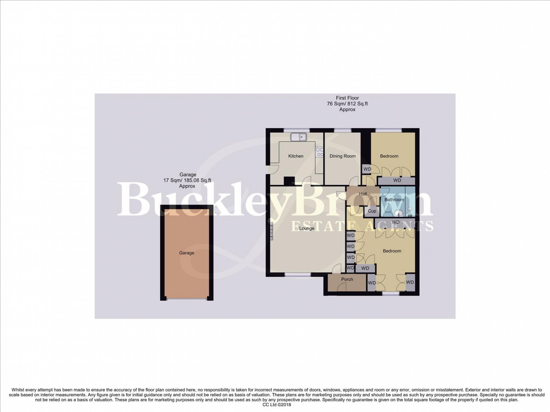 Floorplan for Lingfield Close, Mansfield