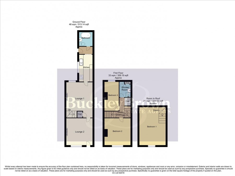 Floorplan for Talbot Street, Pinxton, Nottingham