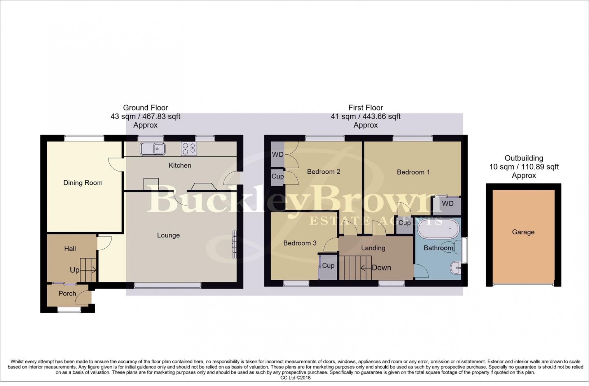 Floorplan for Coopers Rise, Mansfield