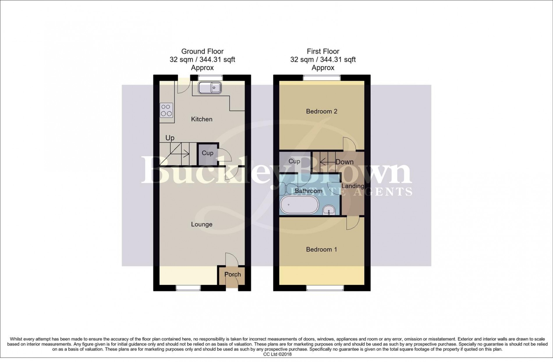 Floorplan for Acacia Court, Forest Town, Mansfield