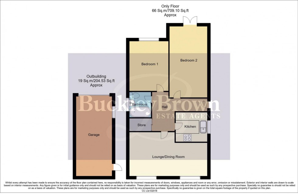 Floorplan for Derwent Drive, Kirkby-In-Ashfield, Nottingham