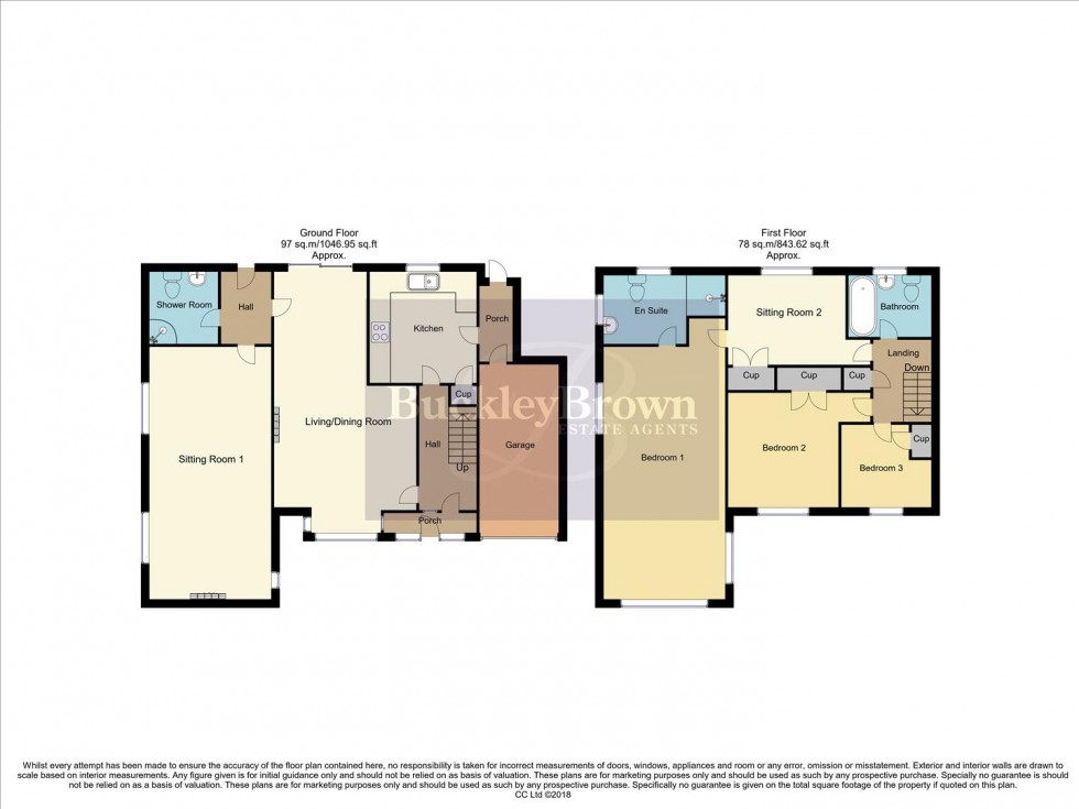 Floorplan for Clare Hill, Blidworth, Mansfield