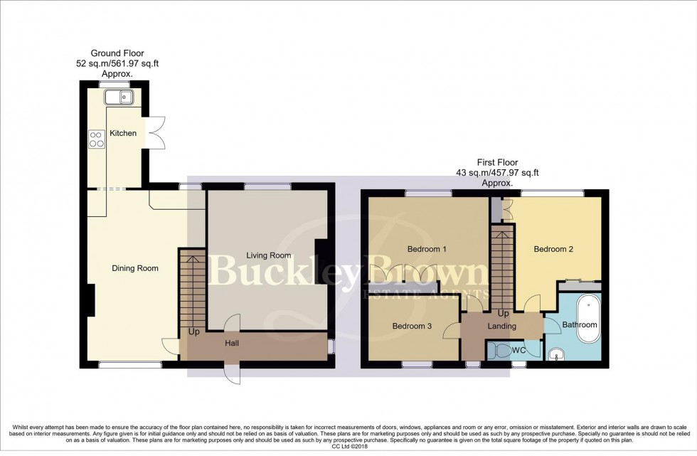 Floorplan for The Green, Glapwell, Chesterfield