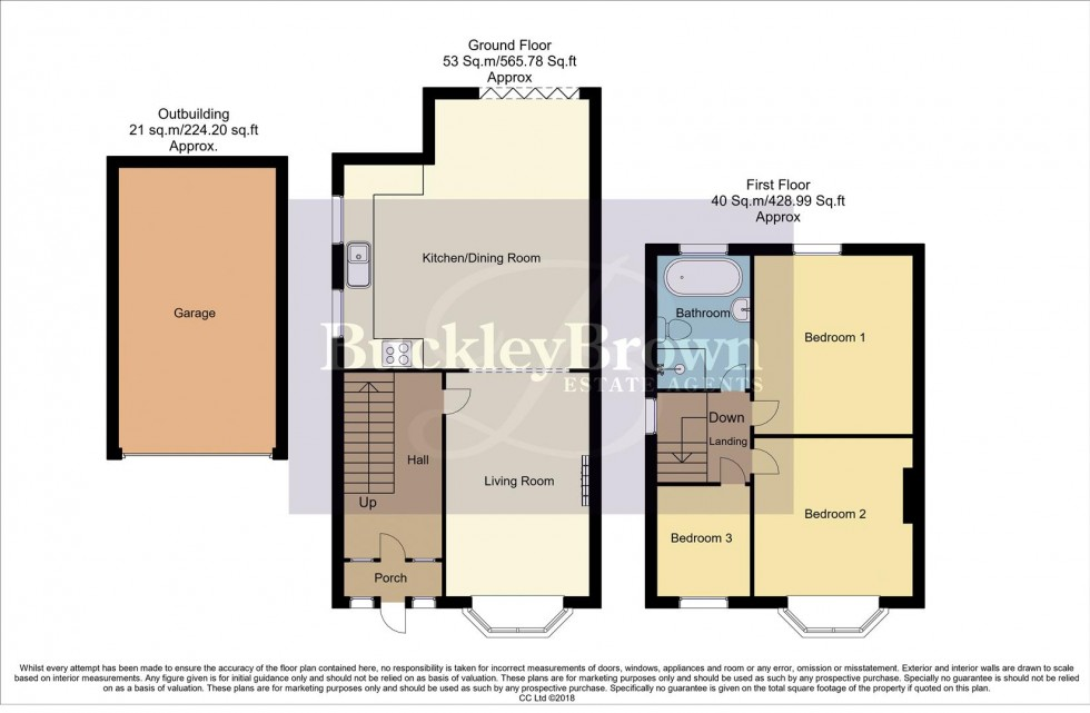 Floorplan for Diamond Avenue, Kirkby-In-Ashfield, Nottingham