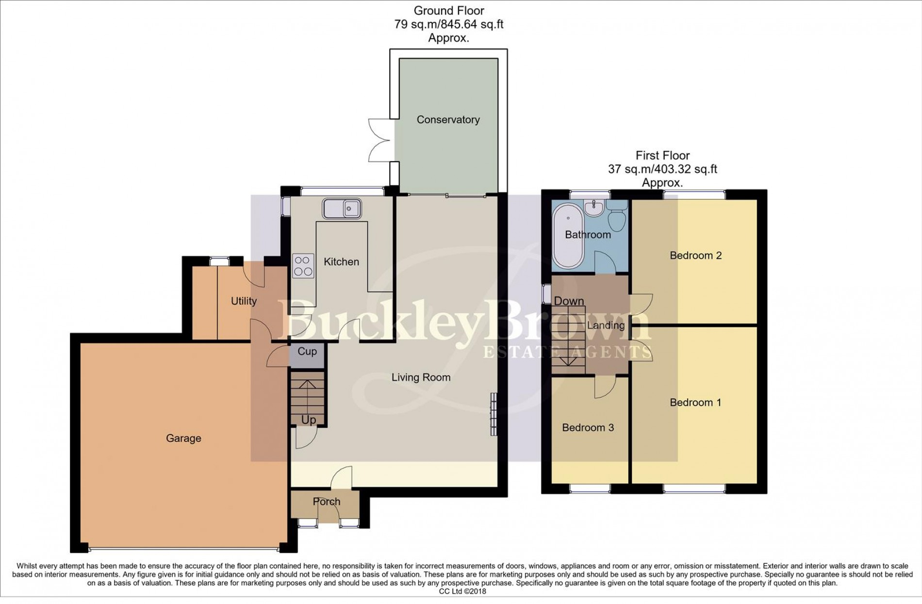 Floorplan for Durham Close, Mansfield Woodhouse, Mansfield