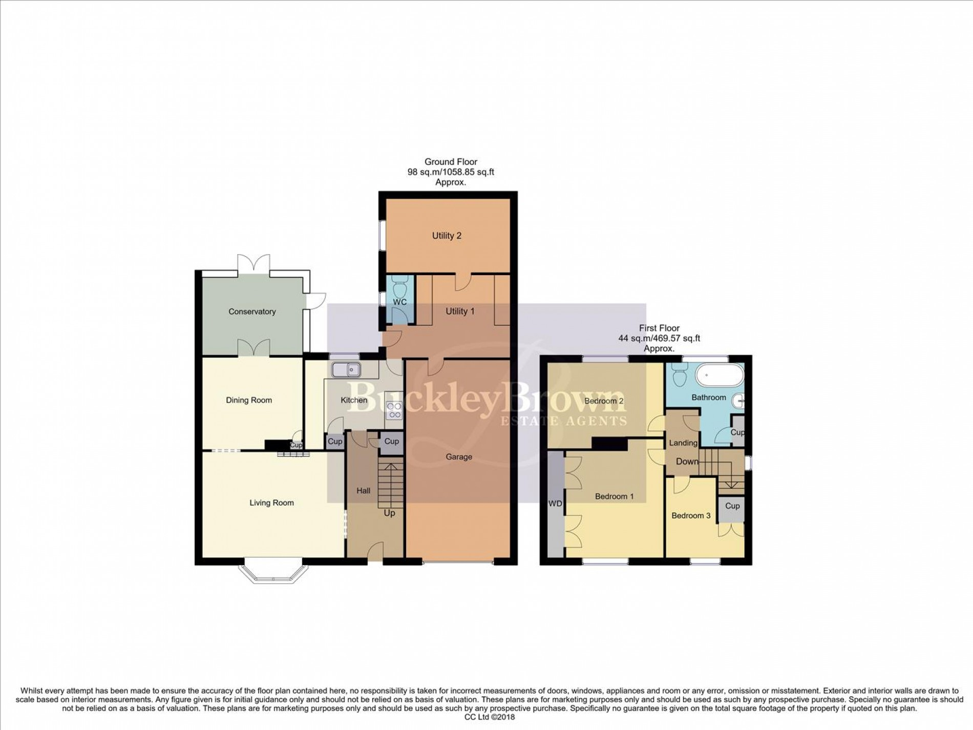 Floorplan for Clune Street, Clowne, Chesterfield