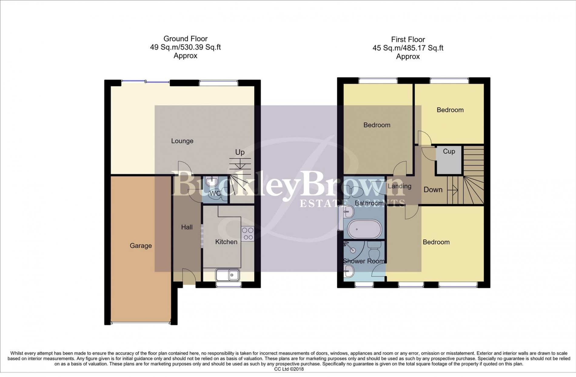 Floorplan for Maple Drive, Creswell, Worksop