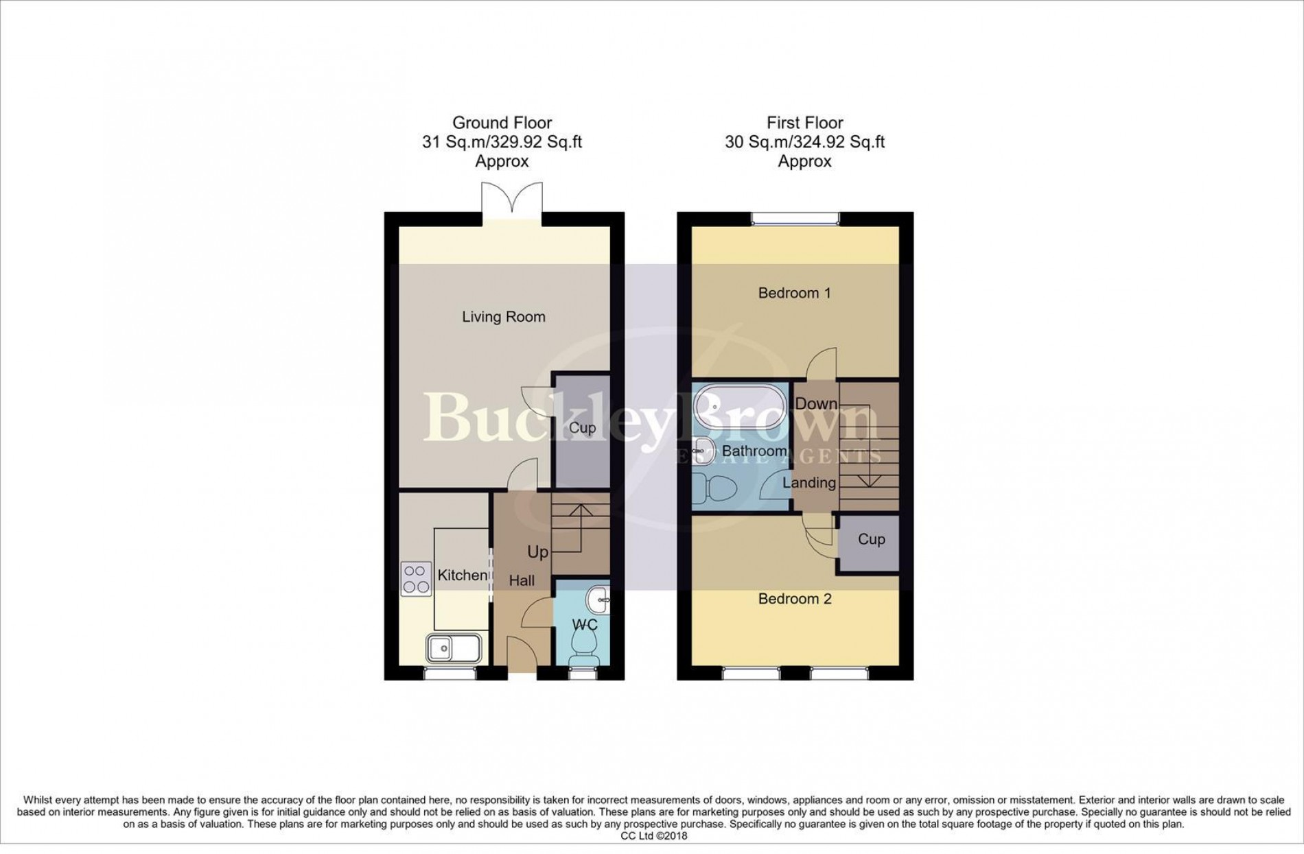 Floorplan for Swallow Crescent, Ravenshead, Nottingham