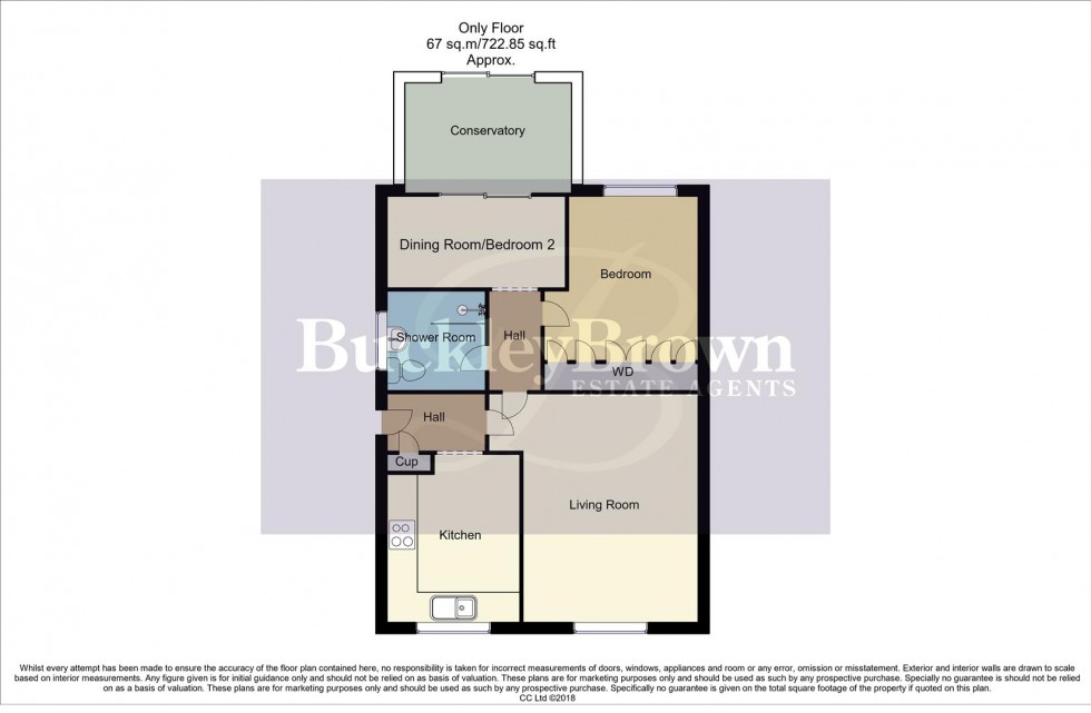 Floorplan for Briar Close, Rainworth, Mansfield