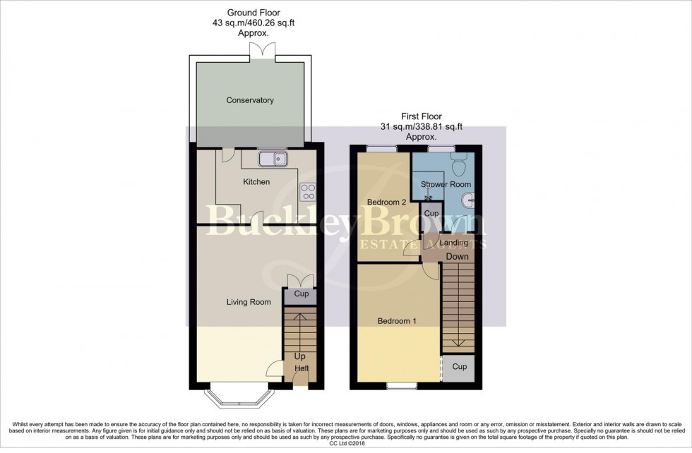 Floorplan for Westland Drive, Pinxton, Nottingham