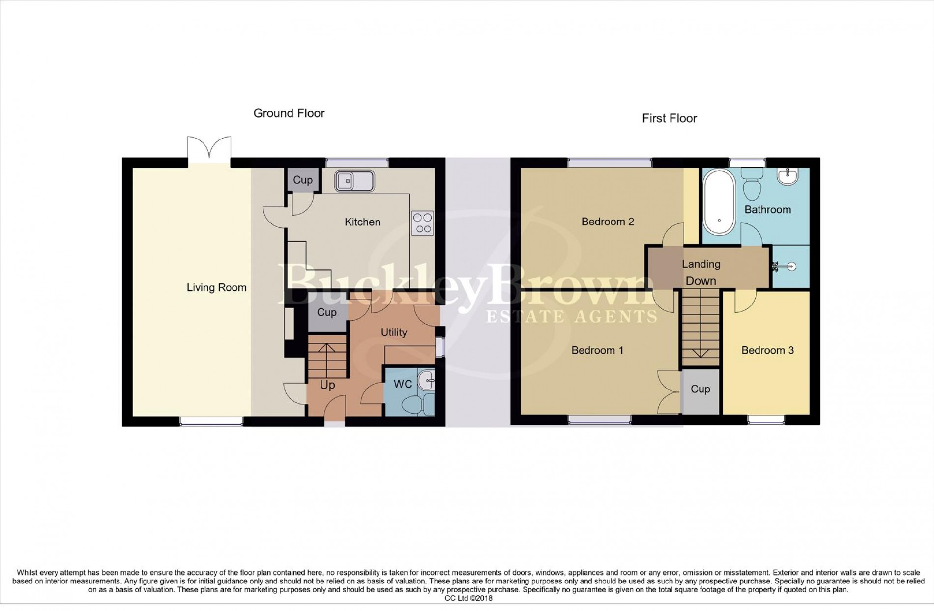 Floorplan for Tudor Crescent, Rainworth, Mansfield