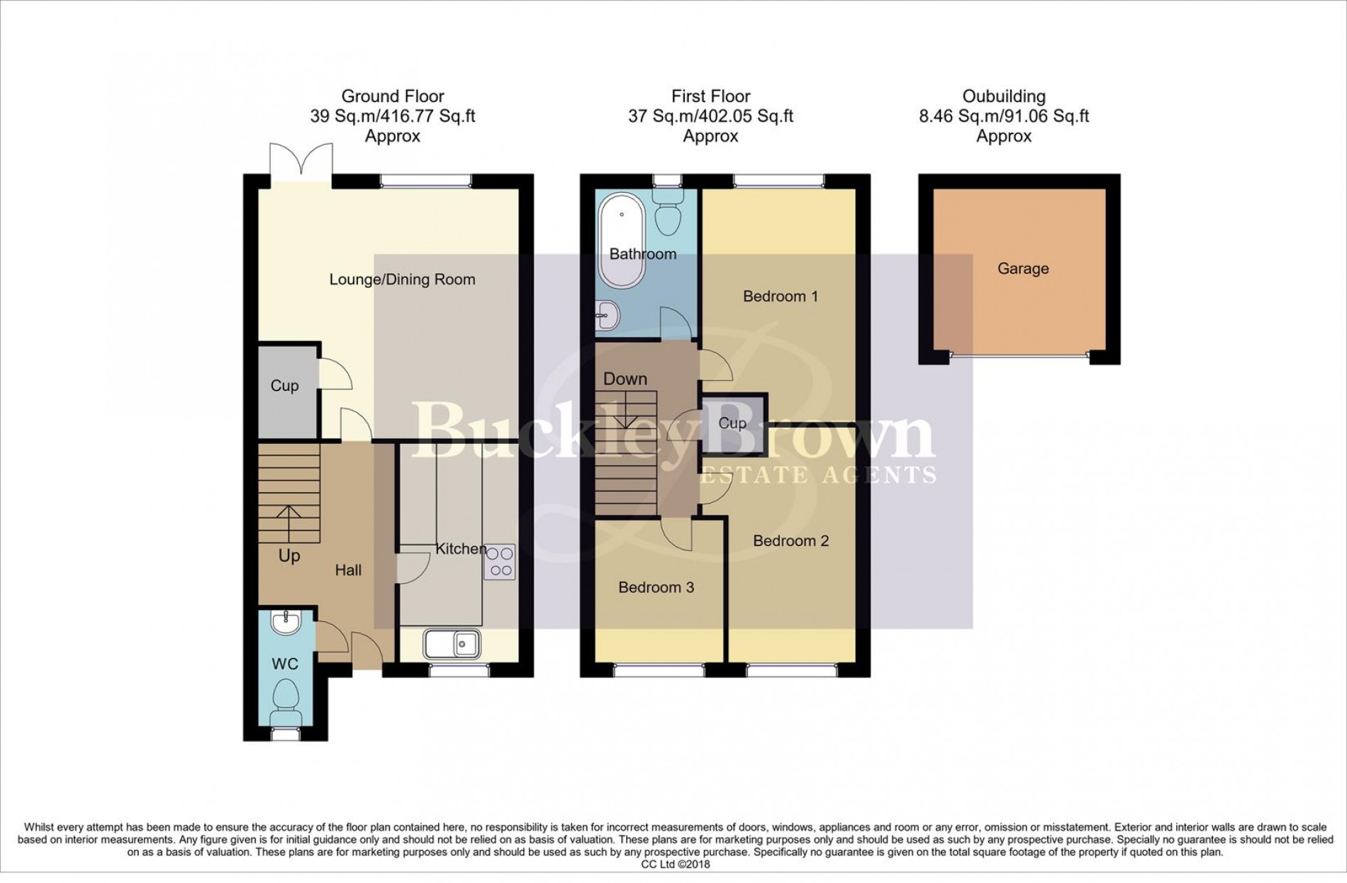 Floorplan for Winster Way, Mansfield